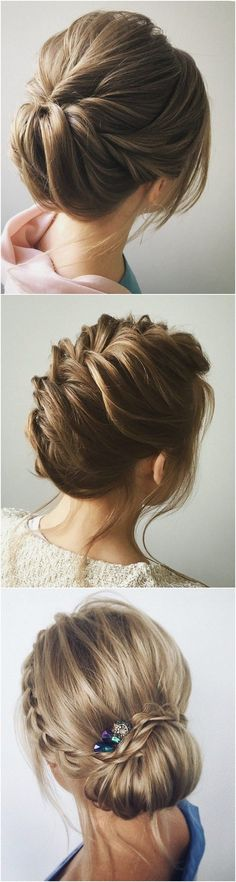 Hair Styles For School romantic twisted updo wedding hairstyle niffler-elm. Top Hairstyles, Braided Hairstyles, Wedding Hairstyles, Bridesmaids Hairstyles, Updo Hairstyle, Romantic Hairstyles, Hairstyle Ideas, Hairstyle Short, Bridal Hairstyle