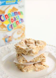 Easy Recipe for Cinnamon Toast Crunch Bars uses Cinnamon Toast Crunch Cereal from tablespoon.com