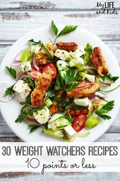 Trying to lose weight? Healthy meals can be delicious! Try these 30 delicious and guilt-free Weight Watchers recipes that are 10 points or less. They're sure to help you on your weight loss journey!