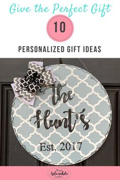 10 Personalized Gift Ideas from Simply Adorable Creations. Head over to our website to check them out! Teacher Door Hangers, Letter Door Hangers, Initial Door Hanger, Gifts For Grooms Parents, Gifts For Mom, Teacher Welcome Signs, Rustic Wedding Groom, Present For Groom, Circle Monogram