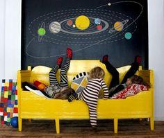 Solar System Wall Decal Kids Children Room 47.2u0027u0027 ...