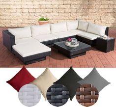Poly Rattan Gartenmbel Lounge Set TUNIS 6 Sitzpltze Sofa Tisch