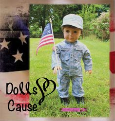 Sneak peek of a Dolls for a Cause charity auction outfit for American Girl size dolls! Full Army Combat Uniform (7 pieces) and many other items will be up for auction June 15 on ebay. All proceeds will go to The Fisher House. Check out our page for more info! https://www.facebook.com/pages/Dolls-for-a-Cause/1374284286135770