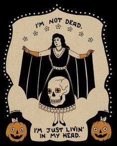 sorry I didn't reply I wasn't listening Halloween Art, Vintage Halloween, Happy Halloween, Spooky Scary, Creepy, Illustrations, Illustration Art, Doodles, Arte Horror