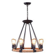 LNC Rustic Rope Chandeliers, 8-light Pendant Lighting for Kitchen, Dining Room, Living Room, Restaurant - - Amazon.com