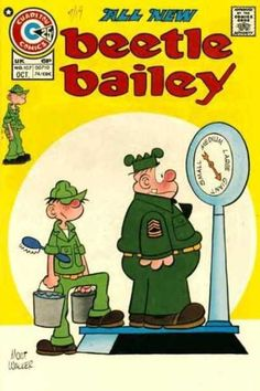 A cover gallery for the comic book Beetle Bailey Old Comic Books, Best Comic Books, Vintage Comic Books, Vintage Cartoon, Comic Book Covers, Vintage Comics, Classic Cartoon Characters, Favorite Cartoon Character, Classic Cartoons