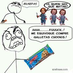 Memes Chistosos - Me equivoque compre galletas chokis