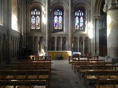 Light in the north transept at Peterborough Cathedral