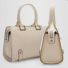 Structure Croco Embossed Handbag