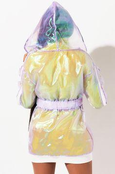 AKIRA Label Holographic Long Sleeve Zipper Belt Hoodie Dress, In Blue, Lavender Wrap Around Dress, Akira, Hoodie Dress, Snug Fit, Jumpsuit, Hoodies, Mini, Long Sleeve, Dresses