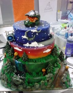 Halo Cake..Dominic would love it...I would have to try my hardiest to make...Its a maybe?
