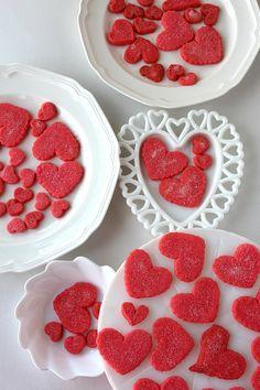 Heart Shortbread Cookies | SugaryWinzy