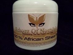 ***AFRICAN 100% RAW SHEA BUTTER***Yellow*** (Unrefined)  4 OZ Jar  #RawAfricanUnrefinedSheaButter