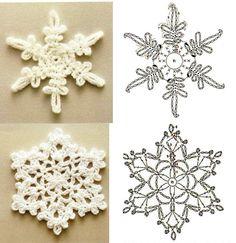 Snowflake crochet charts