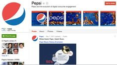Pepsi seems to have hit the spot with the five pictures. They are already pretty active on Google+.