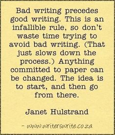 Bad and good writing
