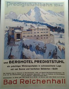 AFFICHE ANCIENNE PREDIGTSTUHLBAHN ALLEMAGNE GERMANY DEUTSCHLAND SKI SPORT HIVER in Collections, Calendriers, tickets, affiches, Affiches pub: anciennes | eBay