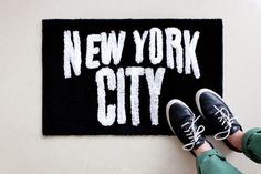 """SECOND LAB """"New York"""" and """"Los Angeles"""" Rug Collection: Japanese label SECOND LAB specializes in """"new vintage"""" pieces, its name referring to the combined New York Bedroom, City Rugs, Hypebeast Store, Empire State Of Mind, My Ideal Home, Second Hand, New York City, Branding Design, Nyc"""