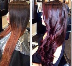 Cambio de color Hair Color Formulas, Sinful Colors, Hue, Stylists, Ombre, Burgundy, Highlights, Salons, Lounges