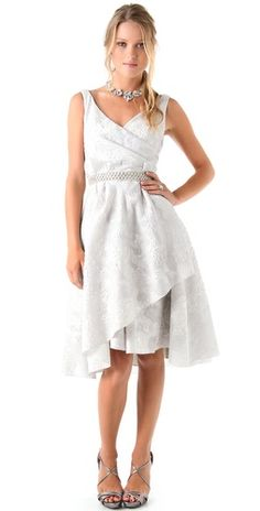 Click Image Above To Buy: Lela Rose Jacquard Dress With Beaded Belt Tea Length Wedding Dress, Perfect Wedding Dress, Wedding Dresses, Full Skirt Dress, Dress Up, Gown Photos, Barbie, Shower Dresses, Bridesmaid Outfit