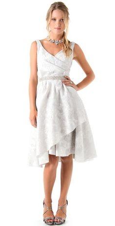 Click Image Above To Buy: Lela Rose Jacquard Dress With Beaded Belt Tea Length Wedding Dress, Perfect Wedding Dress, Wedding Dresses, Full Skirt Dress, Dress Up, Barbie, Shower Dresses, Bridesmaid Outfit, Vogue