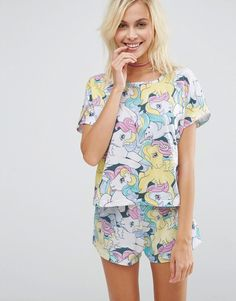 Image 1 of ASOS My Little Pony Print Short & Tee Pyjama Set
