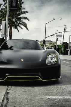 Matte Black Porsche 918.