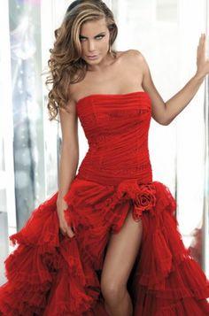 Vestiti da sposa rossi corti