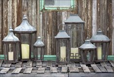 LARGEST COLLECTION OF PARK HILL LANTERNS