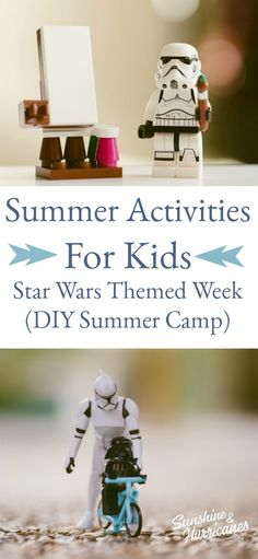 Have your kids bring out their inner Jedi master with these Star Wars themed activities that will keep them busy all summer long.   #Starwars #Summerfun #Starwarsactivities #kids #summer Star Wars Food, Star Wars Games, Star Wars Kids, Summer Camp Games, Summer Activities For Kids, Crafts For Kids, Diy Crafts, Top Toys For Boys, Star Wars Light