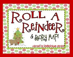 This cute freebie has 2 versions of Roll A Reindeer. One uses a single die and the other uses 2 dice to work on simple addition. There is also a story map that may be used with ANY reindeer book. FREE!