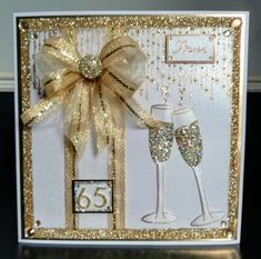 Background stamp and champagne glasses by Chloe Endean Prosecco Glasses, Champagne Glasses, Stamps By Chloe, 65th Birthday, Give It To Me, How To Make, Creative Cards, Card Ideas, Birthdays