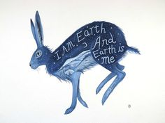I am Earth And Earth is me. Archival Art print.