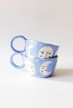 Handmade 'La Luna' Ceramic Mugs | LisaJunius on Etsy