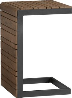 """One of these -  Rocha Side Table. 16""""Wx16""""Dx24.5""""H  Overall DimensionsWidth: 16"""" Depth: 16"""" Height: 24.5"""" Distance Between FrameWidth: 21.75"""""""