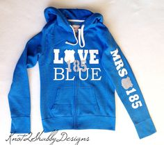 Police hoodie - love blue - law enforcement - the thin blue line - police wives - police wife clothing  by Knot2ShabbyDesigns on Etsy https://www.etsy.com/listing/216378579/police-hoodie-love-blue-law-enforcement