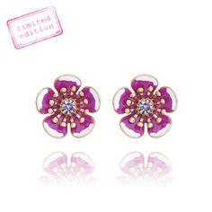 Limited Edition don't miss yours! https://www.chloeandisabel.com/boutique/tam#39759 Jardin Fuchsia Stud Earrings