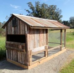 Chicken Coop - - BARN CHICKEN COOP [Now they just need a little green and yellow John Deer chicken tractor.] Building a chicken coop does not have to be tricky nor does it have to set you back a ton of scratch.