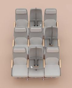Factorydesign has envisioned how social distancing could be achieved on planes after the coronavirus pandemic with its Isolation screen divider kit. Airplane Interior, Airplane Design, Industrial Design Company, Plane Seats, Partition Screen, Aircraft Interiors, Outside Seating, Car Interior Design, Air Travel