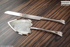 Wedding Gift Knife Set : ... Sets on Pinterest Cake knife, Personalized wedding gifts and Knife