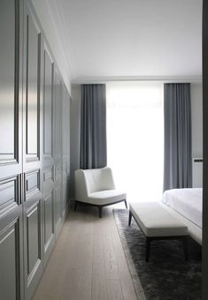 Appartement Paris/Guillaume Terver & Christophe Delcourt Luxurious drapes and curtains to go all the way to the ground Classic Interior, Home Interior, Interior Architecture, Interior And Exterior, Home Bedroom, Master Bedroom, Bedroom Ideas, Bedrooms, Interiores Design