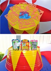 Cutie Pies Custom Creations: It's A Circus! Party theme & Stationery