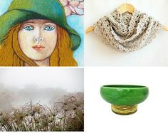 Girl in green Hat :) by Asia Azran on Etsy--Pinned with TreasuryPin.com