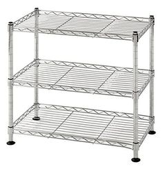 "Muscle Rack WS181018-C Steel Adjustable Wire Shelving, 3 Shelves, Chrome, 18"" #MuscleRack"