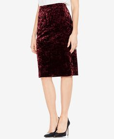 f4273ad685a Vince Camuto Crushed Velvet Pencil Skirt Women - Skirts - Macy s