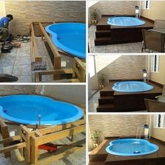 53 Simply Small Backyard Ideas With Swimming Pool… Backyard Pool Designs, Small Pools, Small Backyard Landscaping, Backyard Ideas, Small Backyards, Garden Ideas, Patio Ideas, Small Patio, Landscaping Ideas