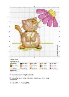 Cross Stitch - Cat - Pattern - Durene Jones