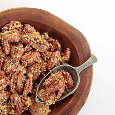 Rosemary-Sesame Pecans: Rosemary-sesame pecans are salty and sweet, thanks to a generous coating of demerara sugar and kosher salt.