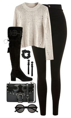 """Untitled #4674"" by magsmccray ❤ liked on Polyvore featuring Topshop and Yves Saint Laurent"