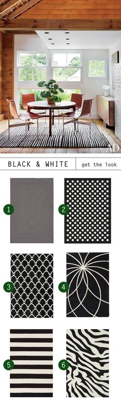 Go Bold with Black and White Rugs by Meg Biram | #TrendCenter by Rugs Direct